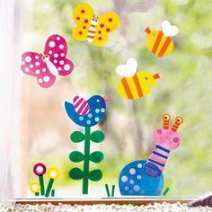 Výzdoba okna - barevné jaro