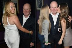 EastEnders' Steve McFadden cosies up to bevy of beauties during boozy night out