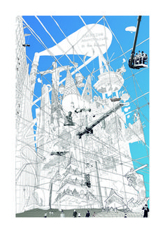 """""""Future of an architecture space Cybertopia. Death of analogous cities"""" Egor Orlov http://www.archiprix.org/2015/index.php?project=3410"""