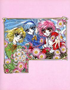 Tags: CLAMP, Magic Knight Rayearth, Shidou Hikaru, Ryuuzaki Umi, Hououji Fuu, Official Art