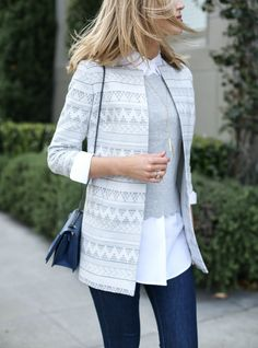 Layered Scallop Sweater and Ankle-Zip Jeans - MEMORANDUM, formerly The Classy CubicleMEMORANDUM, formerly The Classy Cubicle