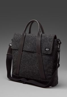 jack spade, waxed wool tote. black is beautiful.