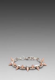 Shop for JOOMI LIM Double Row Spike Bracelet in Rhodium & Rose Gold Spikes at REVOLVE. Spike Bracelet, Less Is More, Revolve Clothing, Gold Rings, Jewelry Design, Rose Gold, Spikes, Bracelets, June