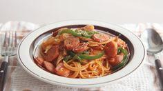 케첩으로 만든 스파게티?!?! 나폴리탄 스파게티 : Spaghetti Napolitan   Honeykki 꿀키