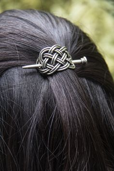 Hair Stick | Britannia Metal | Small Basket | Oberon Design