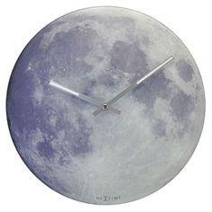 Blue Moon Glass Wall Clock