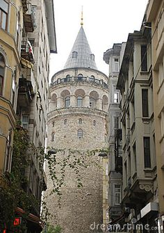 Galata tower to İstanbul Turkey