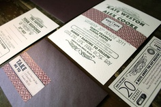 Art deco invitations perfect for a sophisticated fall affair #wedding