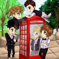 one direction anime  that is adorable :3 I  love you guys!!!!!!!!