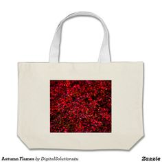 Autumn Flames Large Tote Bag