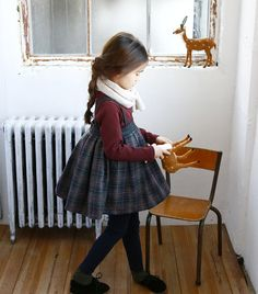 Girl's dress for Christmas Everyday Holiday by hellodearkids, $50.00