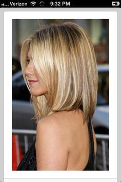 blonde ombre highlights .. love Jennifer Aniston's hair