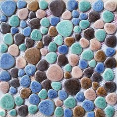 TST Porcelain Pebbles Matt Green Blue Fambe Heart Shape Shower Floor Pool Tiles http://www.tstmosaictiles.com/index.php?route=product/product&product_id=136&search=TSTGPT007