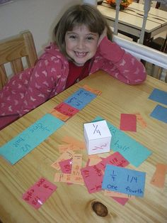 Explanation of a Fraction Kit--well worth the time for each student to make one. Could be a Manipulative or Teacher Time Station Activity. Maybe begin the kit in Teacher Time and move it into the Manipulative Station the next week.     -Glenna