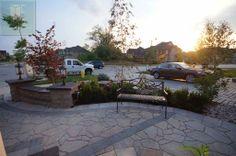 #retainingwall #landscaping #bestlandscapingvaughan #lighting #interlocking #flagstone