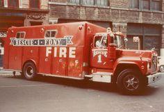 F.D.N.Y. - Rescue Company No 1 (1971 Mack R/Providence) by Timothy Wildey, via Flickr