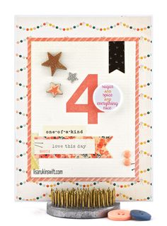 Card Share: Everything Nice (Crate Paper Wonder) by Lisa Swift (FYC All Girl mini flair)