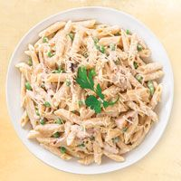 Penne Alfredo with Chicken & Peas