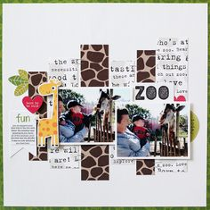 Bella Blvd The Zoo Crew collection. Zoo layout by guest designer Kelly Noel.