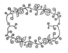 Royalty Free Images  Embroidery Patterns  Floral Frames