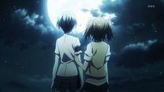 Haru and Tokaku (Akuma no Riddle) Riddle Story Of Devil, Akuma No Riddle, Riddles, Yuri, Tumblr, Animation, Fandoms, Moon, Manga Anime