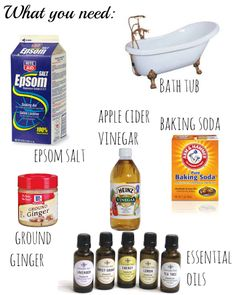 How to Take a Detox Bath... trying this once a week!