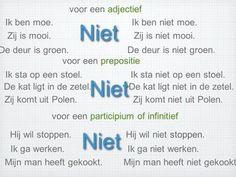 Dutch Language, Learn A New Language, Dutch Phrases, Verbs List, Learn Dutch, Going Dutch, Kids Education, Good To Know, Grammar