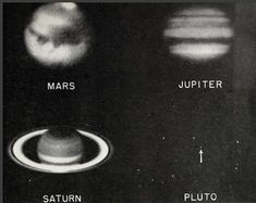 """nemfrog: """"""""Photographs of four planets. Cosmos, Outer Space, Wall Collage, Aesthetic Pictures, White Aesthetic, Foto E Video, At Least, Black And White, Cool Stuff"""