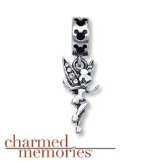 Charmed Memories Tinker Bell Dangle Charm Sterling Silver