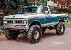 1979 Ford Truck, Old Ford Trucks, Old Pickup Trucks, Jeep Truck, Pickup Car, Chevy Diesel Trucks, Ford Diesel, Cool Trucks, Big Trucks