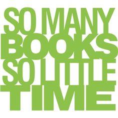 Silhouette Design Store - View Design #30707: 'so many books so little time' phrase