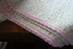 Lilacs and Springtime: Pillowcases with Crocheted Edging