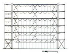 Pompidou Center cross section