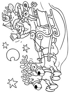 Kerstman met slee Coloring For Kids, Coloring Pages For Kids, Coloring Sheets, Coloring Books, Christmas Colors, Kids Christmas, Christmas Printable Activities, Christmas Coloring Pages, Snowman Coloring Pages