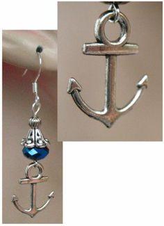 Silver Nautical Anchor Charm Dangle Earrings Handmade Jewelry Women Accessories http://cgi.ebay.com/ws/eBayISAPI.dll?ViewItem&item=151207328274