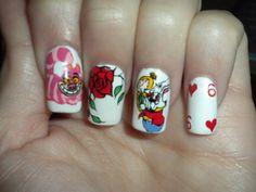 Alice in Wonderland Nails @vynessahodges