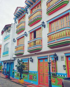 The colorful Colombian town of Guatape