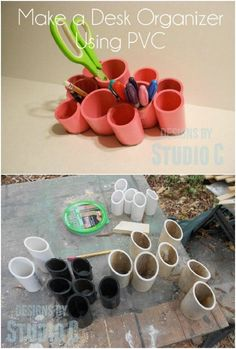 25 Life-Changing PVC Pipe Organizing and Storage Projects - Page 2 of 2 - DIY & Crafts Diy Projects Using Pvc Pipe, Pvc Pipe Crafts, Pvc Projects, Diy Crafts, Pvc Pipe Storage, Craft Room Storage, Diy Storage, Storage Ideas, Craft Organization