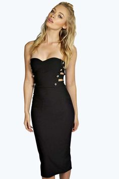 Anja Bandeau Cut Out Bodycon Dress alternative image