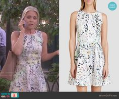 Jennifer's crystal printed dress on Days of our Lives.  Outfit Details: http://wornontv.net/50928/ #DaysofourLives