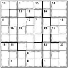 Number Logic Puzzles: 20661 - Killer size 8