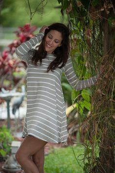 Striped swing dress.