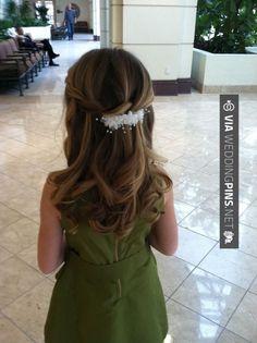 abby – Flower girl hair for wedding, waterfall style