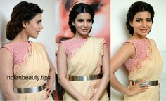 samantha prabhu hairstyles, heroine samantha hairstyles, samantha ruth prabhu hair styles, samantha's hairstyles with sarees, indian party wear hairstyles South Indian Hairstyle, Indian Hairstyles, Celebrity Hairstyles, Trendy Hairstyles, Bollywood Hairstyles, Traditional Hairstyle, Indian Party Wear, Indian Beauty, Beauty Hacks