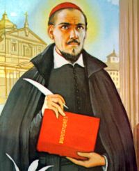 St. Robert Bellarmine, bishop and doctor, pray for us and canonists and catechists.  Feast day September 17.