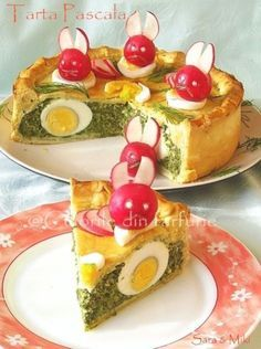 » Tarta PascalaCulorile din Farfurie Easter Recipes, Appetizer Recipes, Amazing Food Decoration, Entrée Simple, Cooking Time, Cooking Recipes, Tapas, Macedonian Food, Good Food