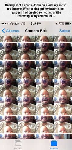 Rapidly shot a couple dozen pics with my son in my lap over #lol #laughtard…
