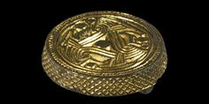 Scandinavian Pre-Viking Gilt Salins Style III Box Brooch