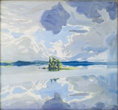 Akseli Gallen-Kallela - Clouds above a Lake : museum Beautiful Paintings, Beautiful Landscapes, Cloud Illustration, Thing 1, Summer Landscape, Paintings I Love, Famous Artists, Art Market, All Art