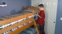SO easy and simple for kids to make their own beds… even those difficult to make bunk beds!!